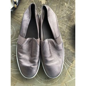 Vince Bronze Size 10 Medium Leather Loafers